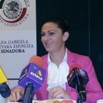 La senadora Ana Gabriela Guevara.