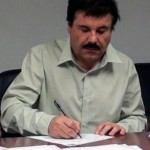 """""""El Chapo"""", al rendir sus declaraciones ya detenido. Foto: Cuartoscuro"""