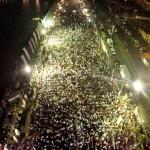 Miles de personas acudieron a darle el apoyo a Claudia en Guaymas.