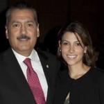 Manlio Fabio Beltrones aquí acompañado de su hija Sylvana Beltrones, virtual diputada federal.