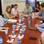 El alcalse Alejandro López Caballero y el Maloro Acosta se volvieron a reunir hoy  preparando la entrega.recepción.
