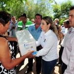 DIF Sonora, Sedeson y Protección Civil entregan los víveres gestionados por la Gobernadora ante la Fundación Bancomer.