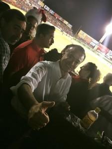 Quirino Ordaz Coppel placeó por el estadio Teodoro Mariscal y en apoyo a Venados, su designación como abanderado del PRI a la gubernatura de Sinaloa.