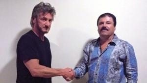 El actor Sean Penn durante su entrevista con Joaquín El Chapo Guzmán.