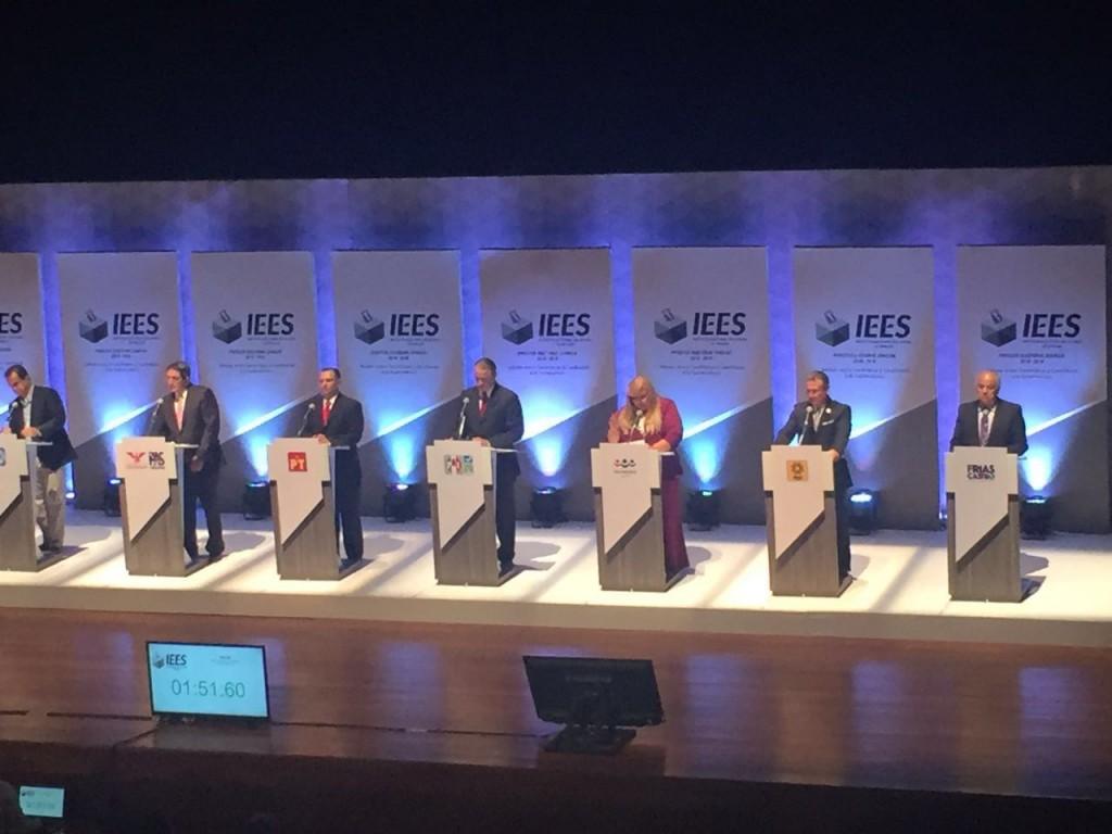 Debate de candidatos a Gobernador organizado por el Instituto Electoral del Estado de Sinaloa.