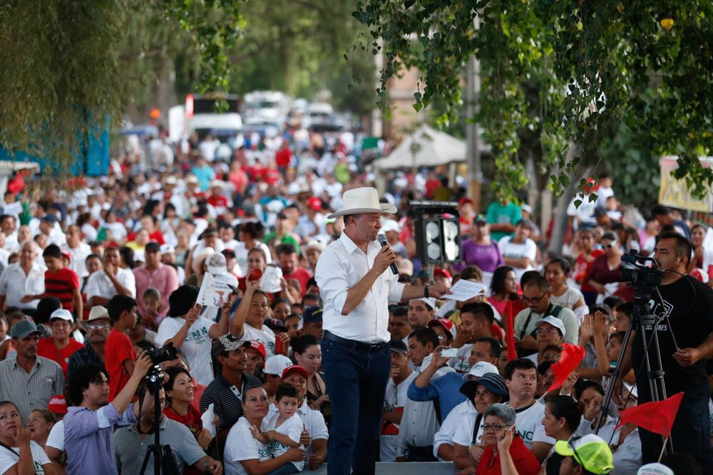 Quirimo Ordaz Coppel encabezó acto proselitista en el valle de San Lorenzo.