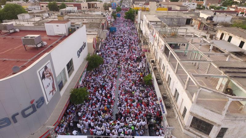 Multitudinario cierre de campaña en Guasave.