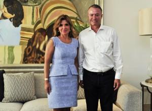 Claudia Pavlovich y Quirino Ordaz.