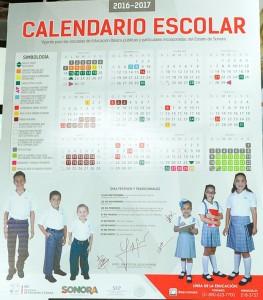 Calendario escolar 2016-2017.